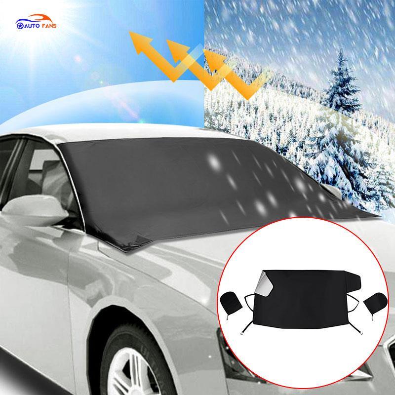 id/éal pour pare-brise de voiture protection contre la poussi/ère bouclier de givre pare-soleil couleur: argent glace Prot/ège pare-brise de voiture Anti-neige