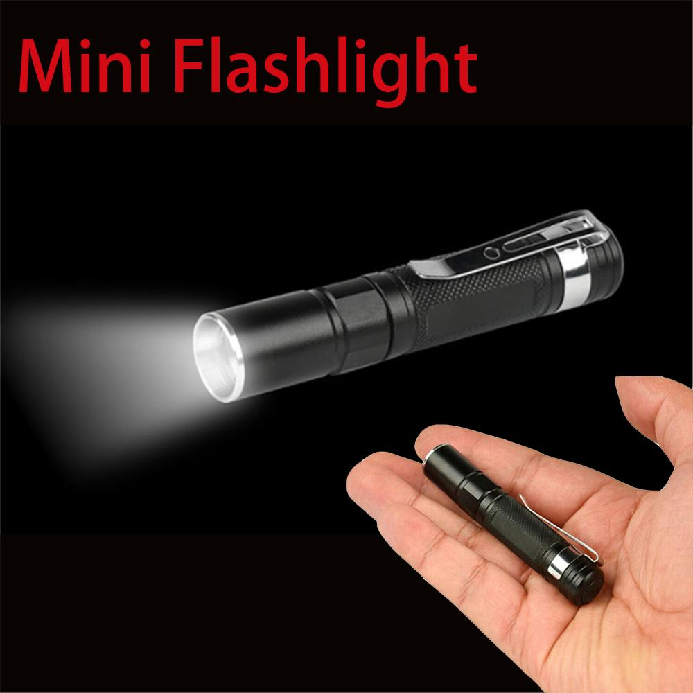 20000LM Castnoo Q5 14500 AA 3 Modes Zoomable LED Flashlight MINI Torch AL