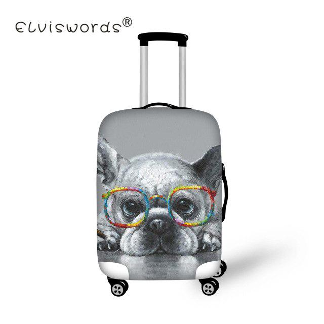 a4ca95f1c Puppy Painted Travel Luggage Cover Dog Bulldog Protective Accessories  Trolley Case Suitcase Dust-buy at a low prices on Joom e-commerce platform