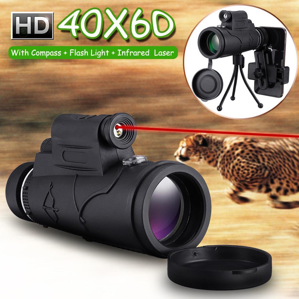 HD Optical Lens Phone Monocular Telescope 40X60 Zoom Adjustable Waterproof Set