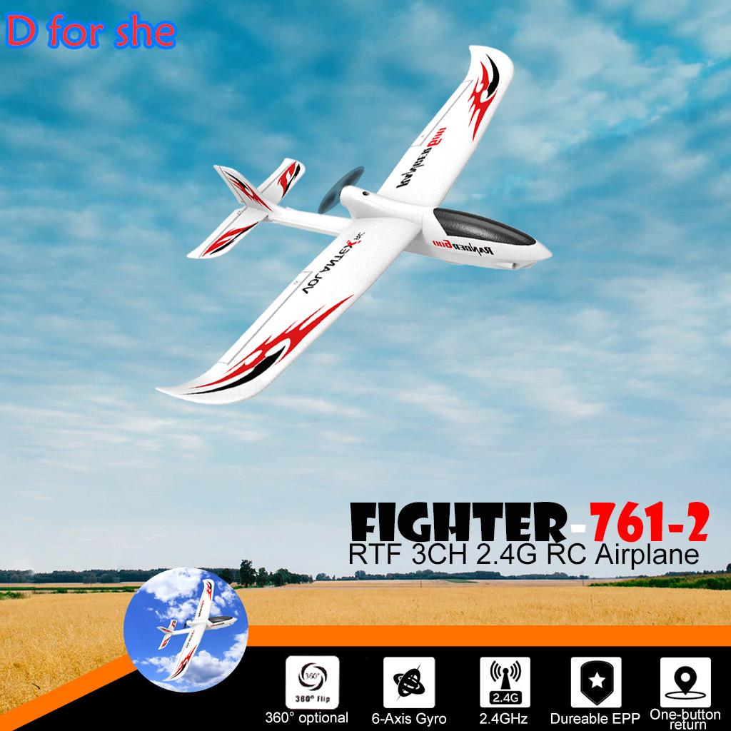 RC Glider Plane Remote Control Airplane for Kids 2.4GHz Radio Control Aircraft with 6-Axis Gyro Fighter Model Toy for Beginners Children Birthday Gift Present