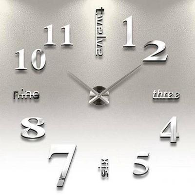 Wall Clock 3D Mirror Sticker Home Interior Design