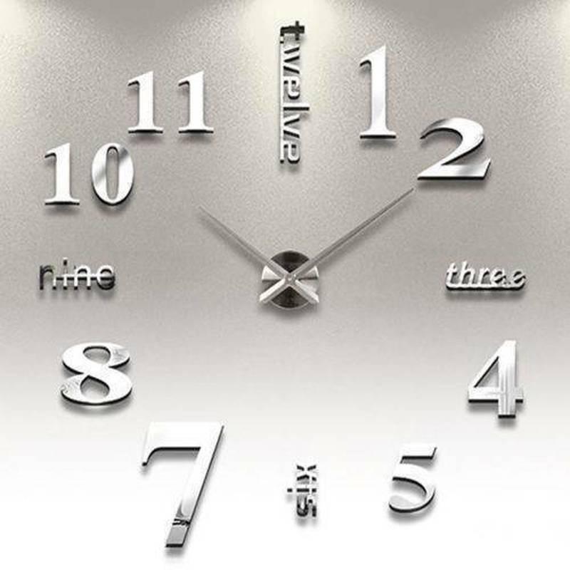 Современные DIY Стены Часы 3D Зеркало Поверхностная наклейка Главная Декор – купить по низким ценам в интернет-магазине Joom