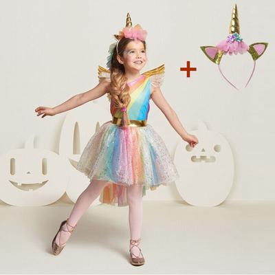 Toddler Girls Rainbow Unicorn Carnival Fancy Dress Costume Outfit 2-3 years