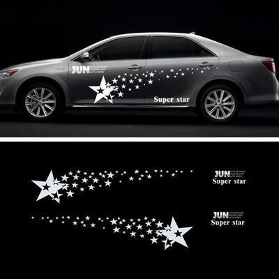 Waterproof 2x Car Body Decoration Vinyl Graphics Decal Sport Reflective Sticker