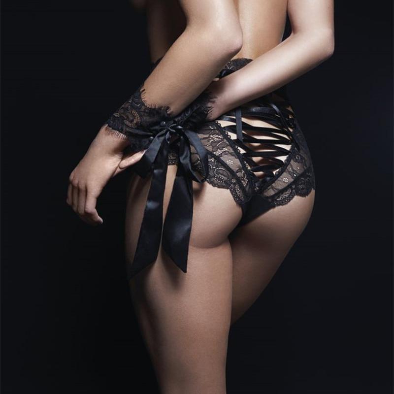 CINOON Сексуальные трусики женщин высокой талии кружево стринги и G строк белье дамы выдалбливают белье – купить по низким ценам в интернет-магазине Joom
