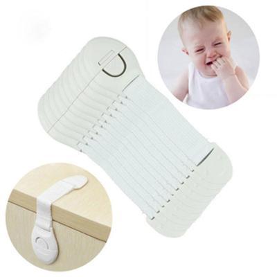 10Pcs Baby Infant Safety Door Drawer Locks Finger Safe Protector