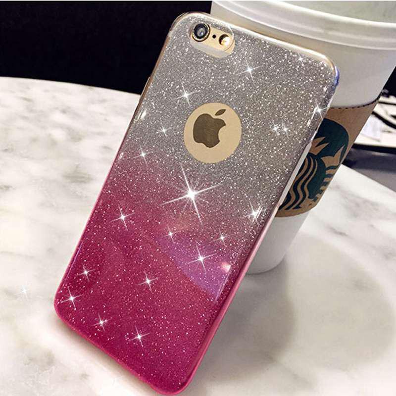 Блеск Мягкие дела iPhone 6 6s 7 8 Плюс XS Макс XR 5 5S 11 6Plus Pro Макс Силиконовый Bling TPU Обложка фото