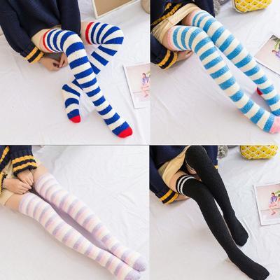 Mode-Frauen-Mädchen-glänzende Stern-Samt-Socken-Winter-warme Strumpfwaren