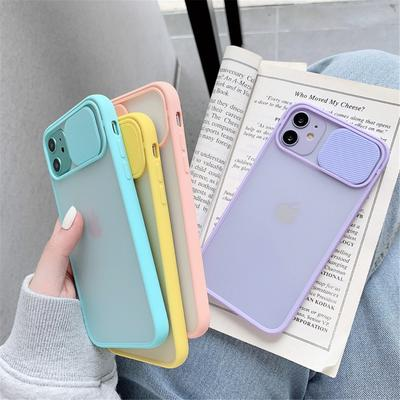 Slide Camera Lens Protection Phone Cases For iPhone 12 Mini 11 XR XSMax 6 6S 7 8 Plus X SE 2 Matte Transparent Soft Back Cover Shell Camera Protection