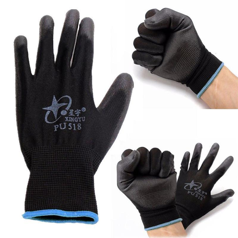 12x PAIRS GARDENING GLOVES LATEX COATED RUBBER WORK BUILDER SAFETY GRIP