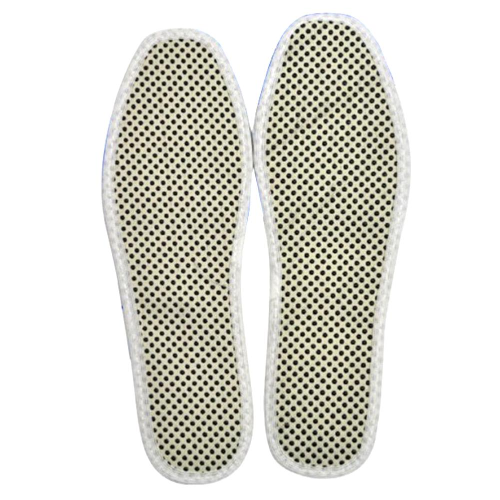 1Pair Green Warm Tourmaline Self Heated Shoes Insoles Insert Foot Cushion Pad Bu