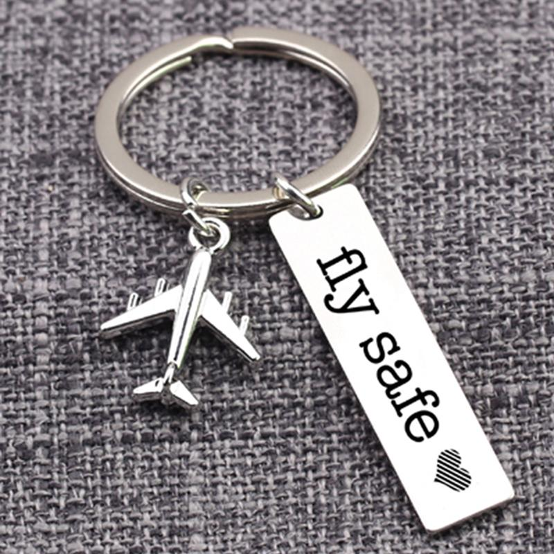 Pilot Gift Fly Safe Keychain Traveling Keychain Flight Attendant Gift Buy At A Low Prices On Joom E Commerce Platform