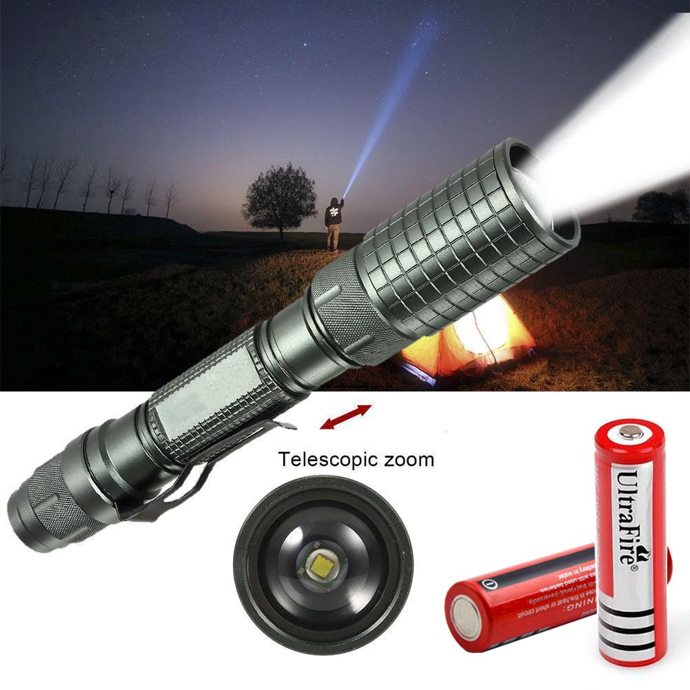 2X Most Powerful 90000LM Tactical 5Mode Zoom Flashlight LED Hunting Focus Torch