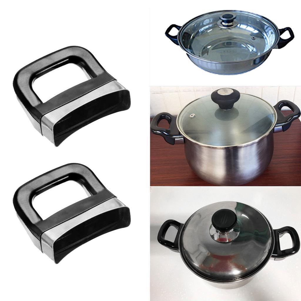 2Pcs Replacement Cooker Steamer Stockpot Sauce Pan Pot Short Side Handles PR