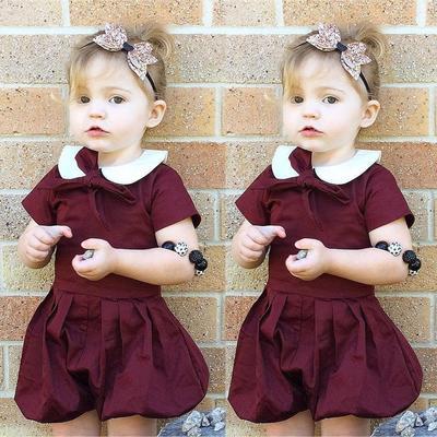abd192a4620 UK Stock Newborn Baby Girls Romper Jumpsuit Bodysuit Clothes Outfits  Sunsuit Set