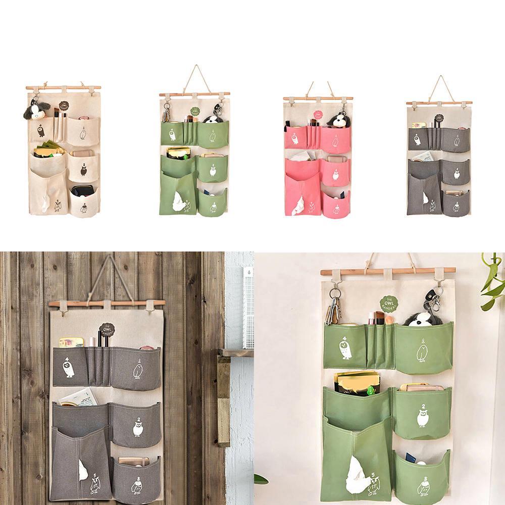 3 Pockets Wall Door Closet Home Hanging Storage Bag Organizer Pouch Tidy UK
