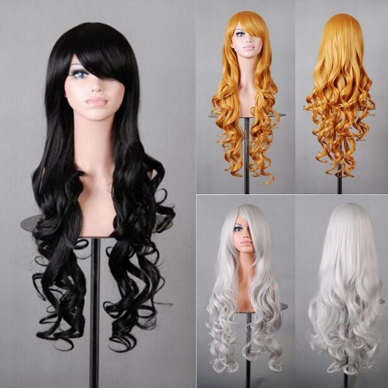 Fashion Lady Long Wavy Anime Party Full Wigs Vintage Colorful Cosplay Costume Hair -buy at a low prices on Joom e-commerce platform