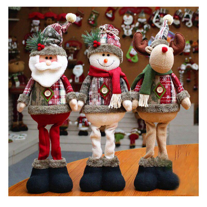 Details about  /Christmas Doll Toy Santa Claus Snowman Elk Tree Hanging Ornament Home Decor Gift