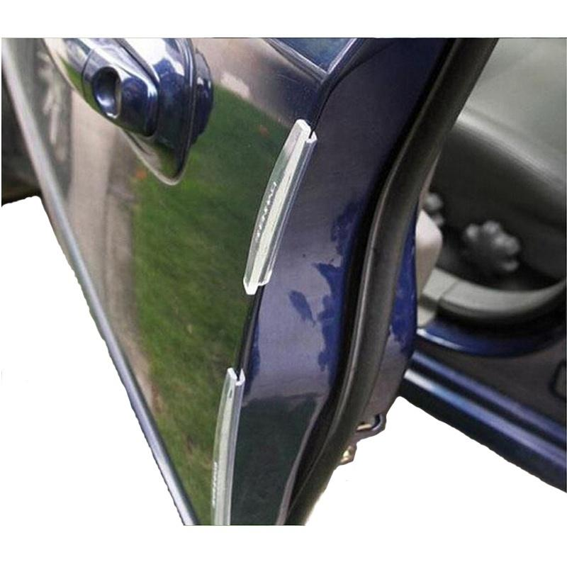 4x AUTO ACCESSORY DECORATE Car Door Edges Crash Barriers BUMPER STRIP For Nissan