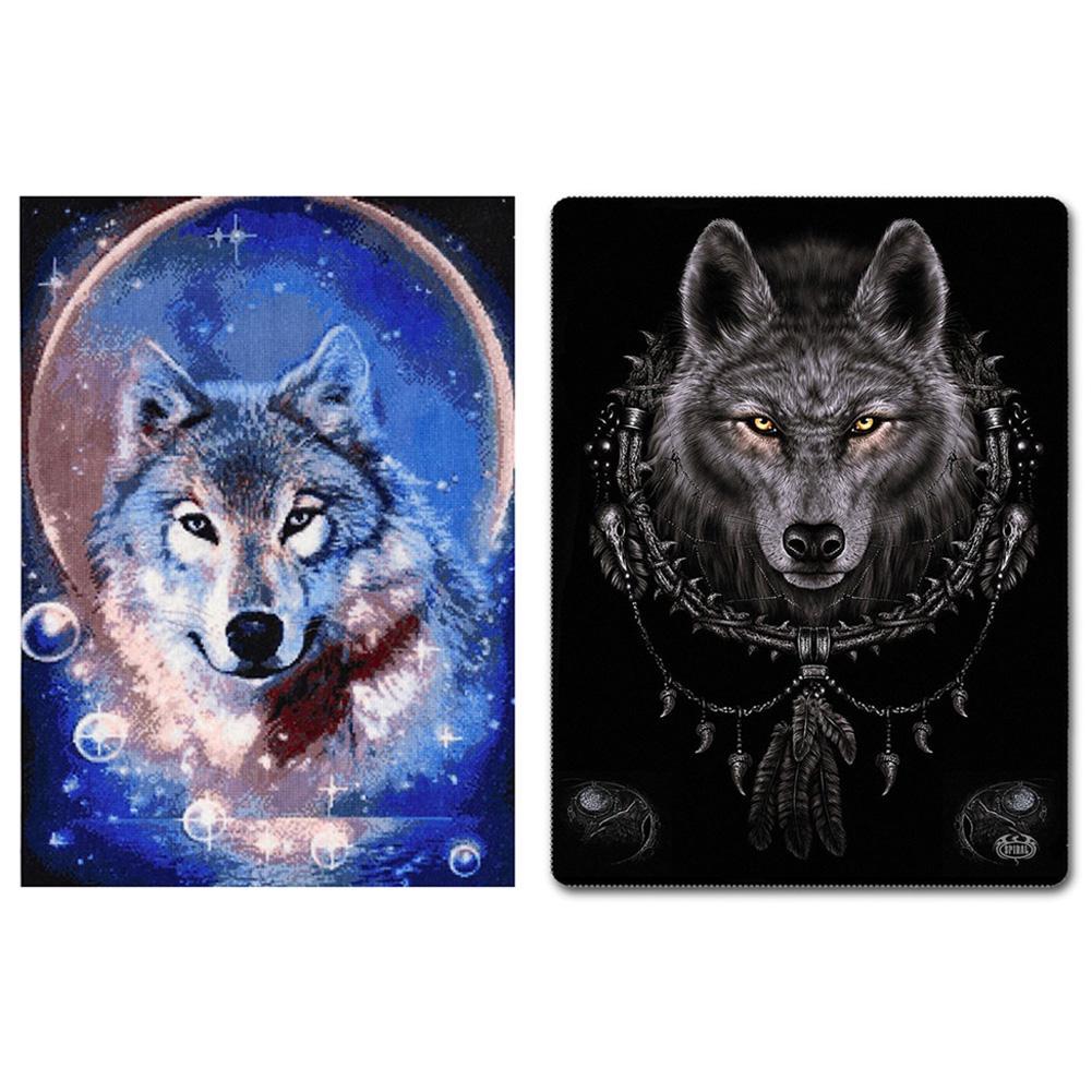 5D DIY Round Drill Diamond Painting Wolf Cross Stitch Embroidery Mosaic Kit