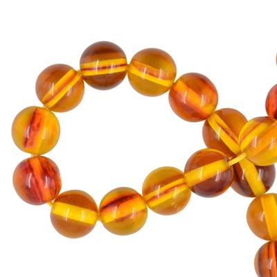 12mm Multicolor Synthetic Amber Round Making Loose Beads Strand 15.5 Inch fb77e94e695a