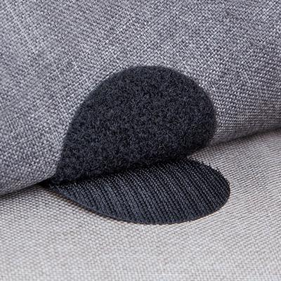 Carpet Gripping Stickers Double Sided Hook And Loop Adhesive Fabric Mounting Tape Sticky Pads For Couch Cushion