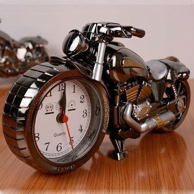 Motorcycle Motorbike Pattern Alarm Clock Creative Home Birthday Gift Cool Clock
