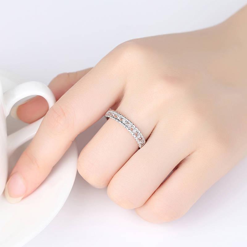 Creative Rings Statement Metal Full Diamond Microinlaid Women Ring Under 5 Dollars Great US Size