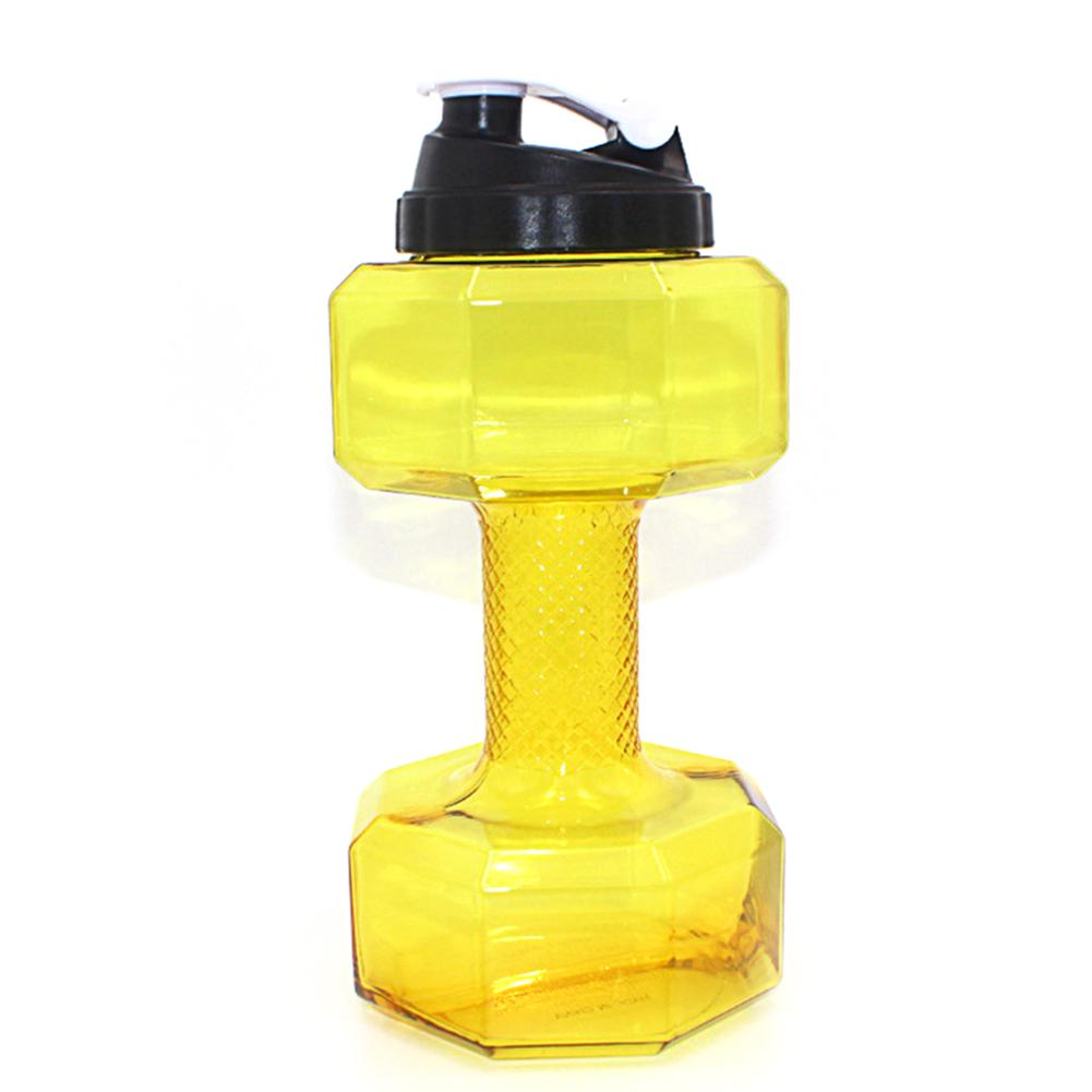 2.5L  PETG Dumbbell Water Jug Sports Fitness Exercise Water Bottle Cup