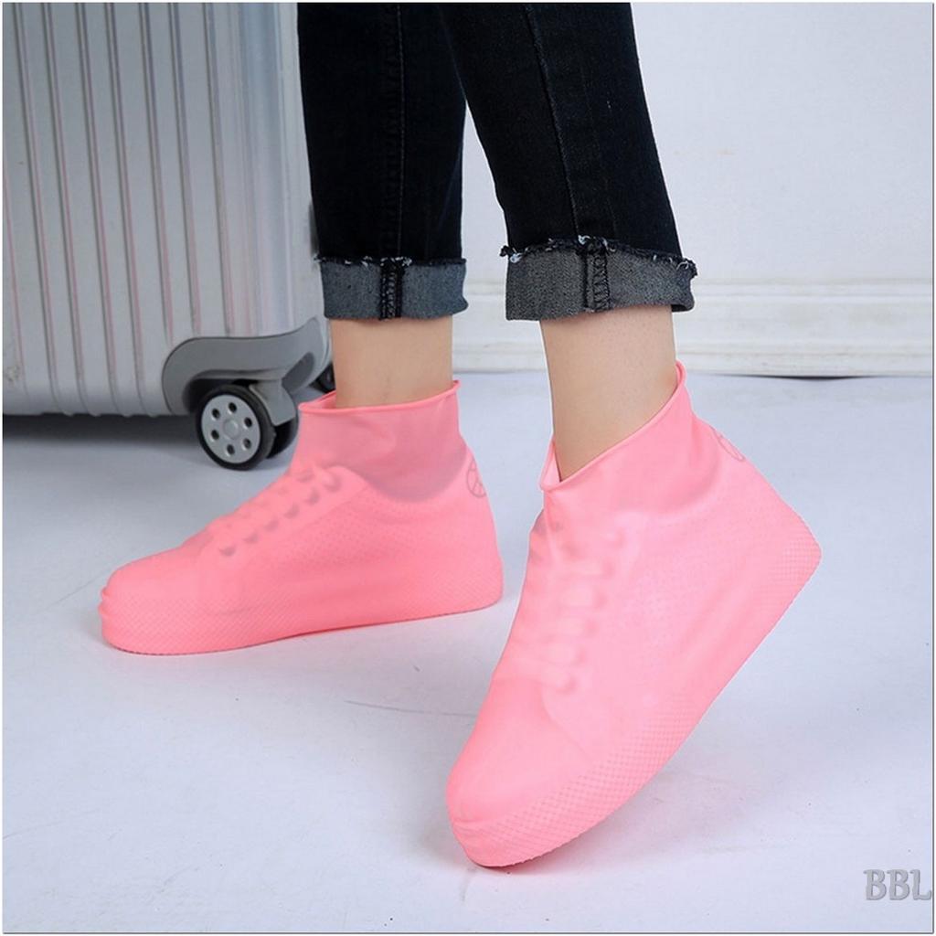 Sapato Masculino Feminino Reutilizável protetores de cobrir Impermeável Antiderrapante espessamento elástico #