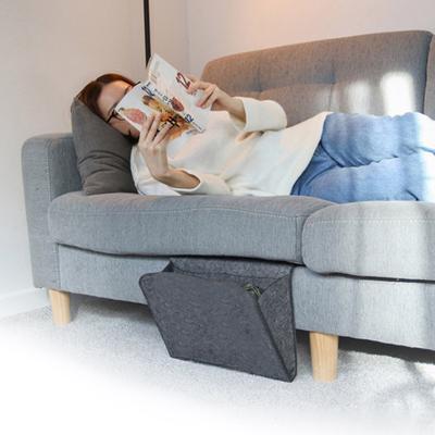 Glasses Remote Under Couch Table Mattress Caddy Hanging Bag for Phone Magazines Black EJY Bedside Caddy Pocket//Felt Bedside Storage Organizer Pen