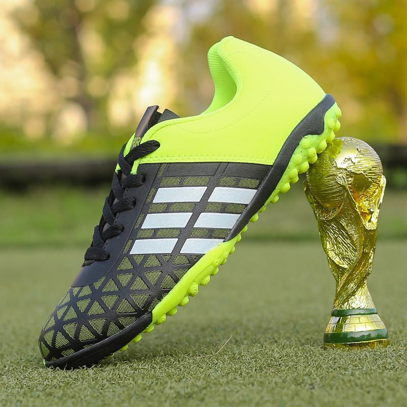 Los hombres niño niños tacos Turf fútbol fútbol zapatos TF Hard ... a3df39685bd08