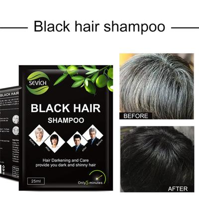 Instant Black Hair Shampoo Make Grey and White Hair Darkening Shinny In 5 Minutes Make Up Hair Color Stain