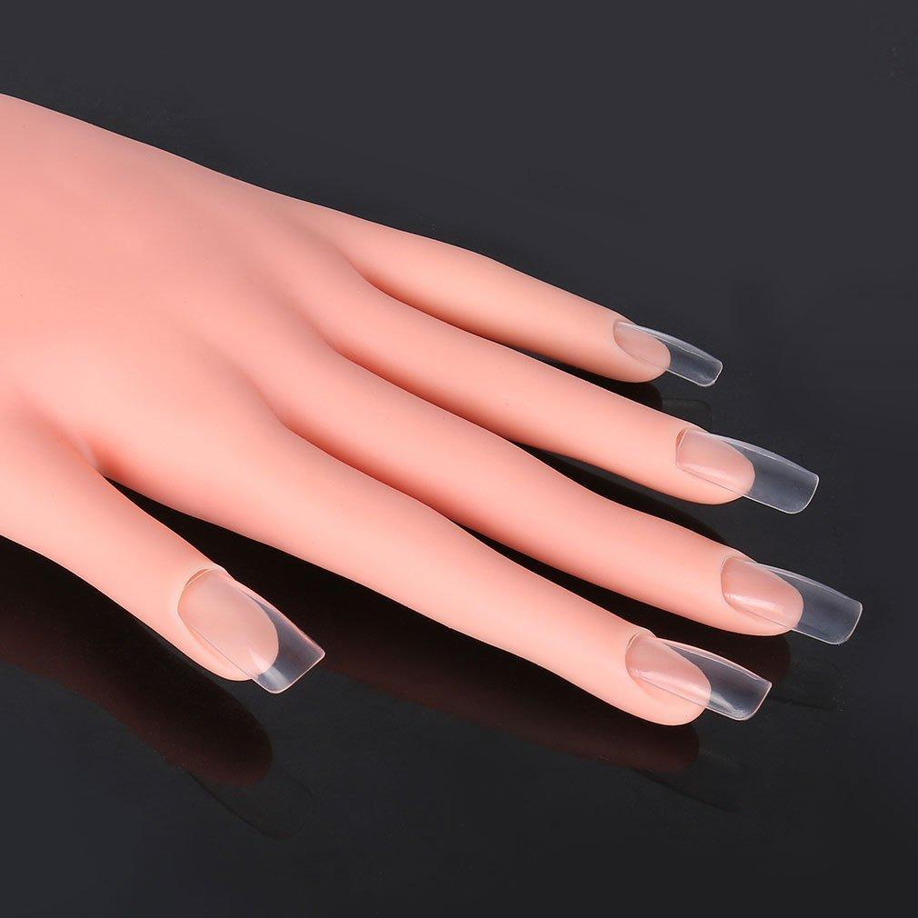 Nail Hand Practice Model Flexible Movable Soft Plastic Hand for Fake ...