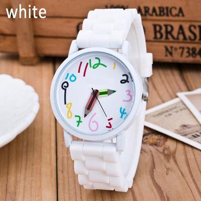 Watch Silicone Watch Children Pencil Pointer Student Watch Quartz Wristwatches Gift Watch