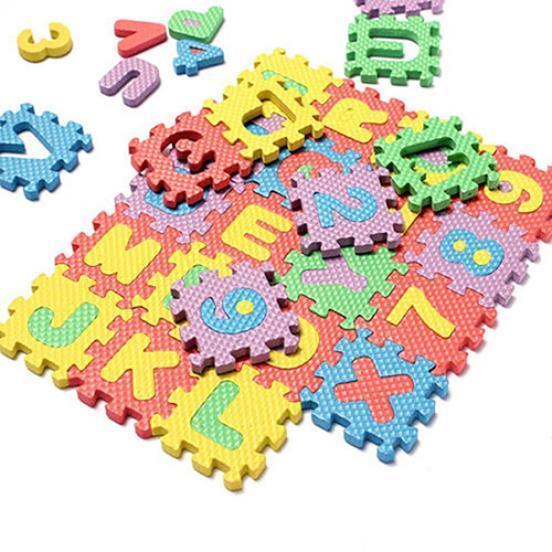 36片泡沫地垫 儿童卡通字母数字爬行拼图地板垫子宝宝拼接爬爬