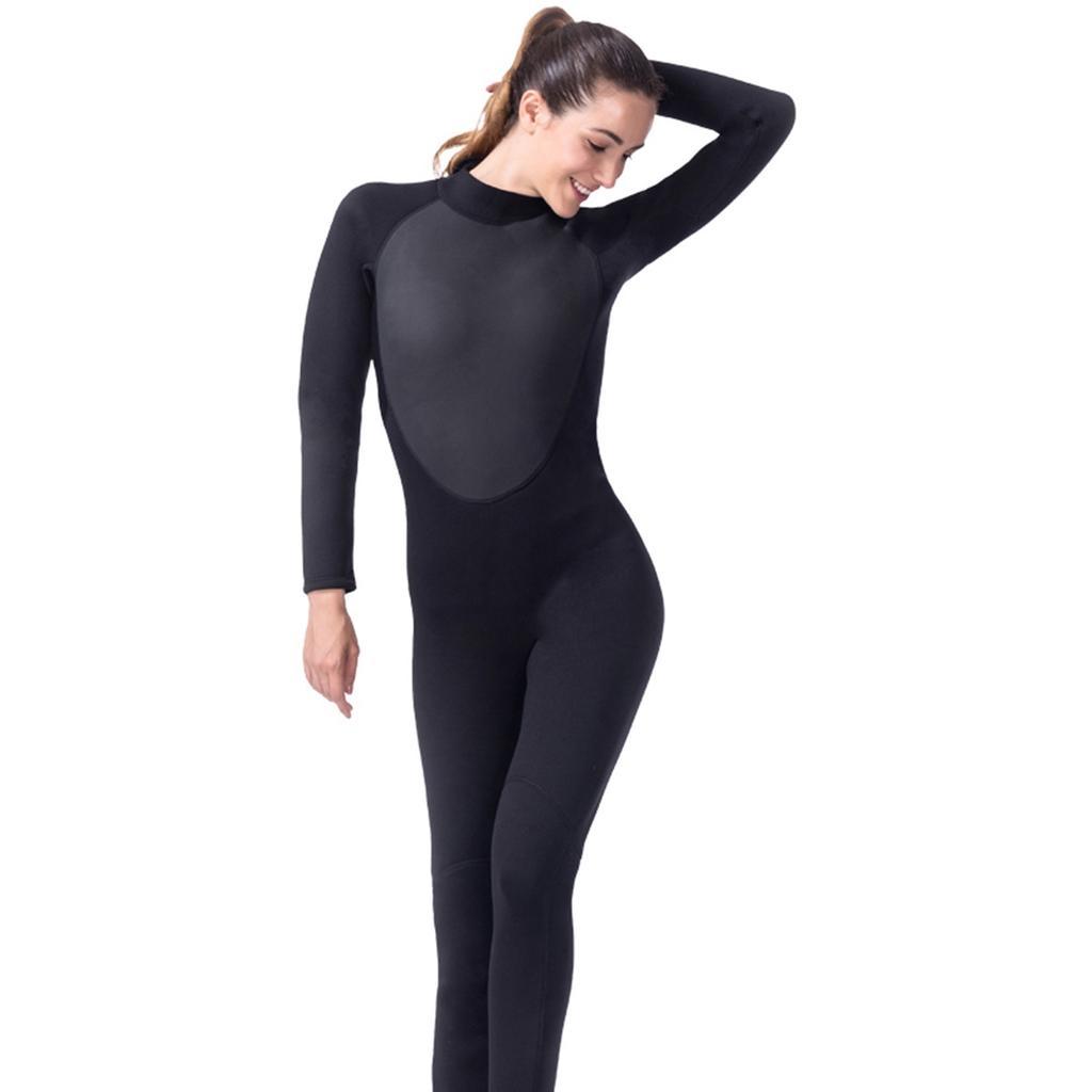 Womens 0.5mm Wetsuit Full Length Surf Kayak Swim Diving with Bra Padded