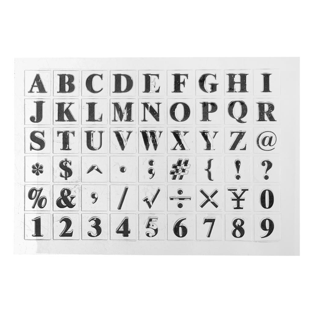 English Alphabet Silicone Clear Seal Stamp DIY Scrapbooking Embossing Photo Album Decorative Paper Card Craft Art Handmade Gift Clear Silicone Stamp Stamps for Card Making