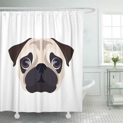 Cartoon Closeup Portrait Of The Domestic Dog Boxer Breed Shower Curtain 60x72inch 150x180cm Buy At A Low Prices On Joom E Commerce Platform