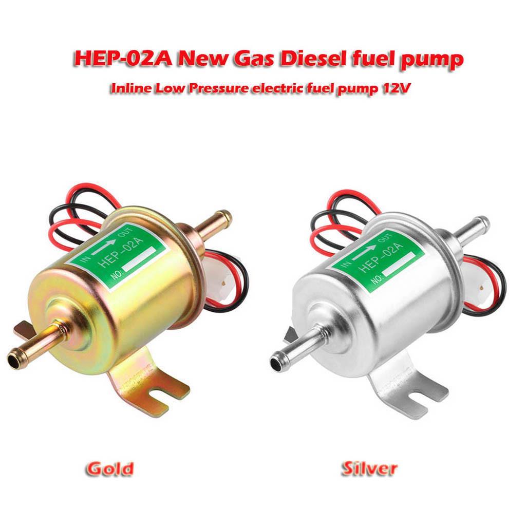 Electric 12V Electric Fuel Pump Inline Diesel Petrol Low Pressure HEP-02A