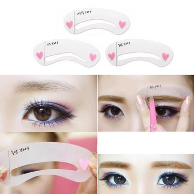 3 Styles Diy Eyebrow Drawing Card Grooming Shaping Template Eyebrow