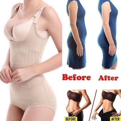 Lyoung Bodysuit Women Waist Trainer Slimming Shapewear Training Corsets Cincher Body Shaper Bustier
