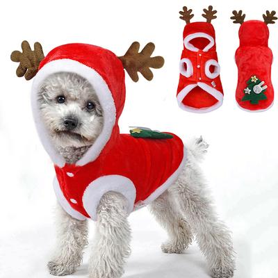 Christmas Winter Cat Clothing Santa Costume Small Dogs Pets Costume Jacket Coats Dog Clothes XS-XL