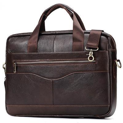 90848bf68b14 16-дюймовый Винтаж кожаный мешок сумку портфель через плечо сумка для  ноутбука мужчин