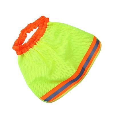 38a828c898579 Safety Hard Hat Neck Shield Helmets Sun Shade Yellow Reflective Stripe