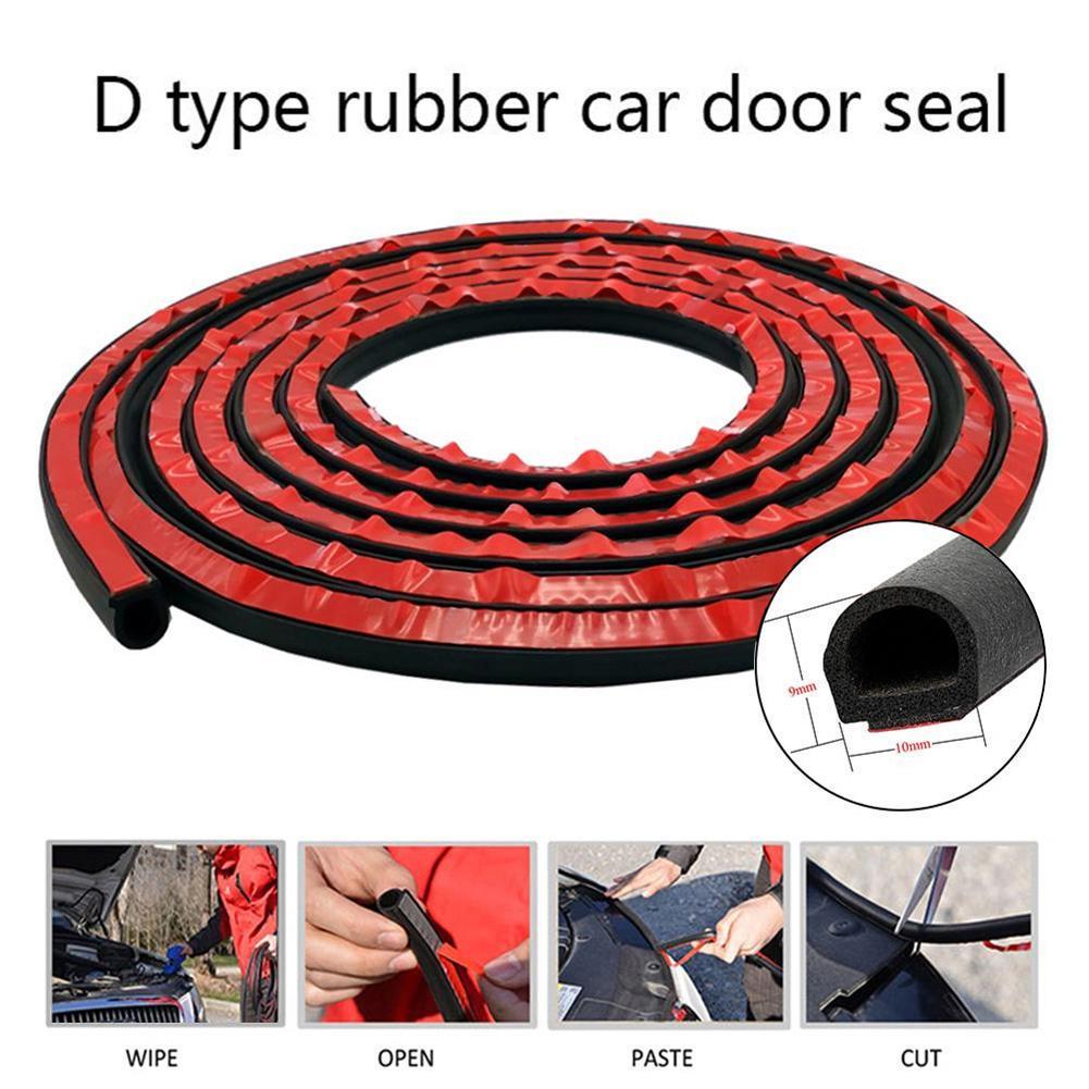 "157/"" Car Motor Door B-shape Rubber Seal Weather Strip Hollow Weatherstrip 4M"