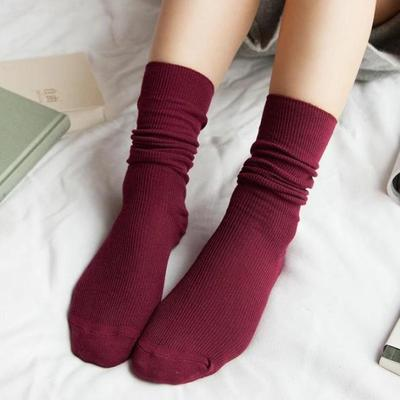 80abe158b9 Cotton Japanese Style Girls Winter Pure Colour Studenci Skórzane buty Buty  Skarpety