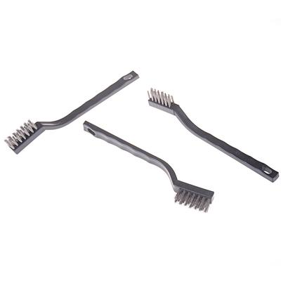 Black Stainless Steel Wire Brushes Small Cleaning Rust Wheels Scrub Hand Tools