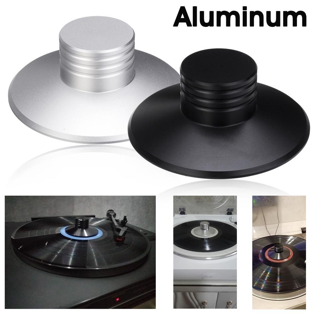 Durable Portable Aluminum Disc Stabilizer LP Disc Stabilizer for Maintaining Stability Record for Vibration Balanced red